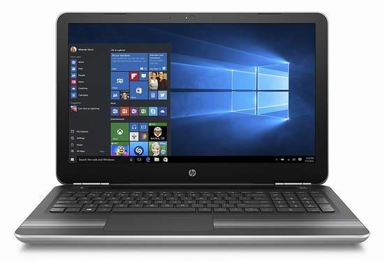 历史新低!Hewlett Packard 惠普 Pavilion 畅游人系列 15.6英寸触屏笔记本电脑 574.99元限时特卖并包邮!