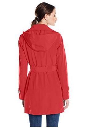 Calvin Klein 女式经典单排扣长款连帽风衣1.6折 52.19-54.6元限时清仓并包邮!两色可选!