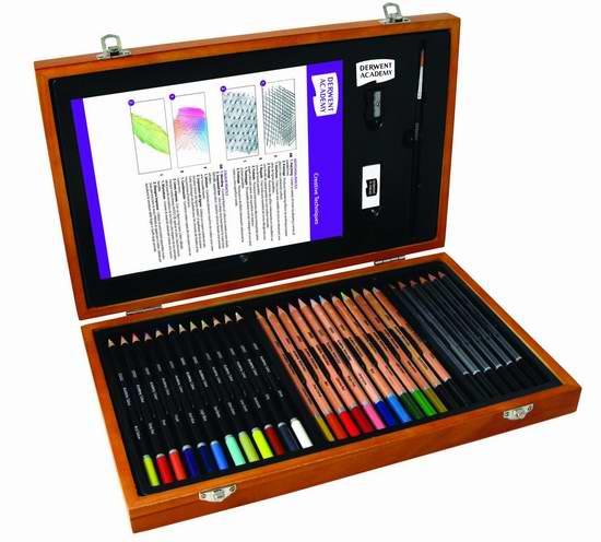 历史新低!Derwent 得韵 2300147 Academy 绘画铅笔35件套5折 19.99元限时特卖!
