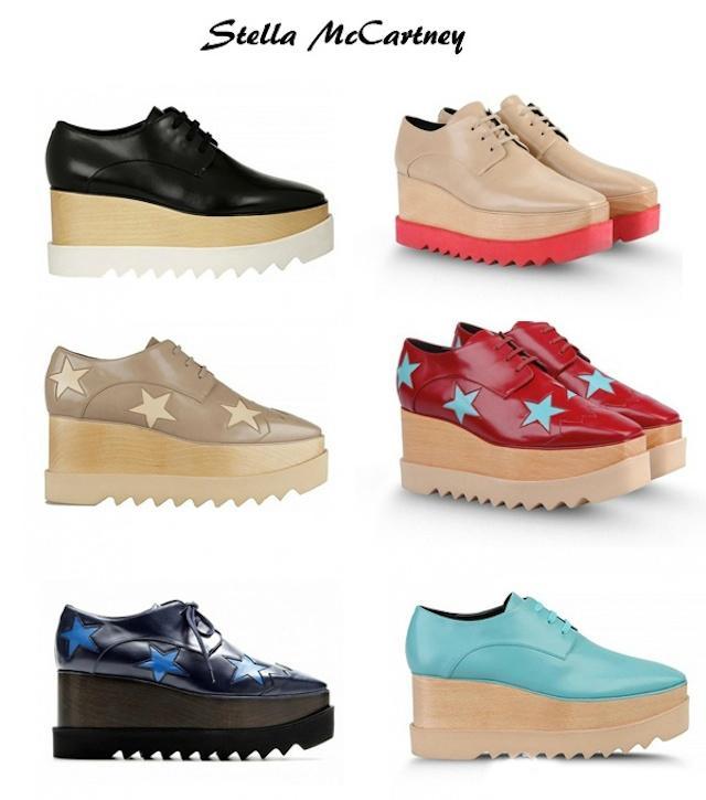 收Angelababy,范冰冰同款星星鞋,精选Stella McCartney 双厚底鞋 281元起特卖!
