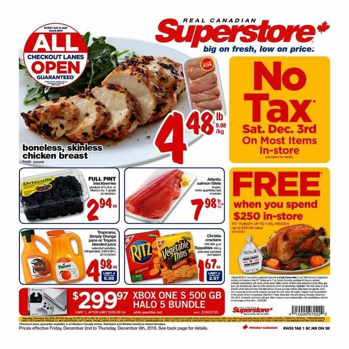 Superstore超市本周(2016.12.2-2016.12.8)打折海报