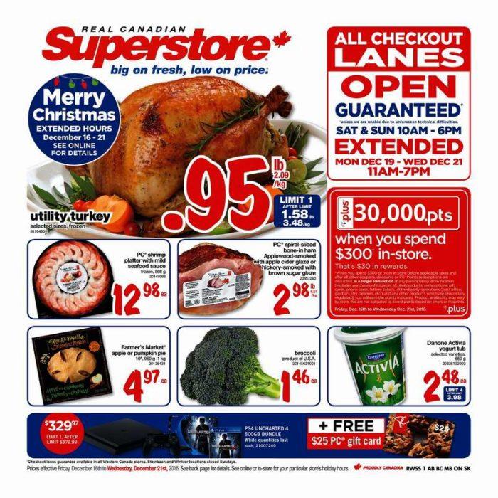 Superstore超市本周(2016.12.16-2016.12.22)打折海报