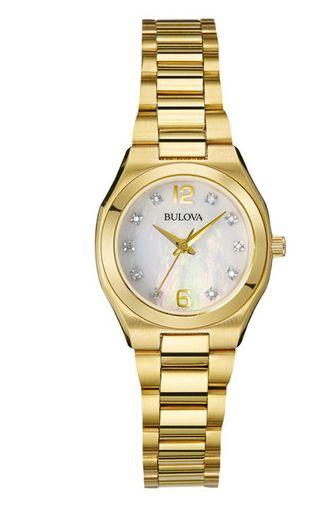 Bulova 宝路华 97P109女士钻石石英腕表 211.17元,原价 313.99元,包邮