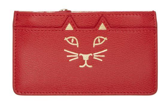 Charlotte Olympia红/黑猫头钱包 171-188元,原价 335元,包邮