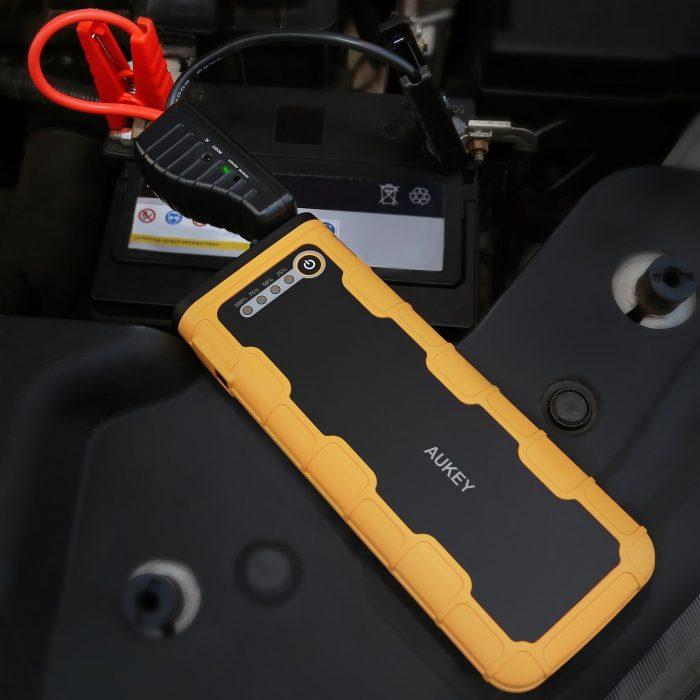 AUKEY 18000mAh 便携式汽车备用应急电源 79.99元限时特卖并包邮!兼具手机平板充电宝及照明功能!