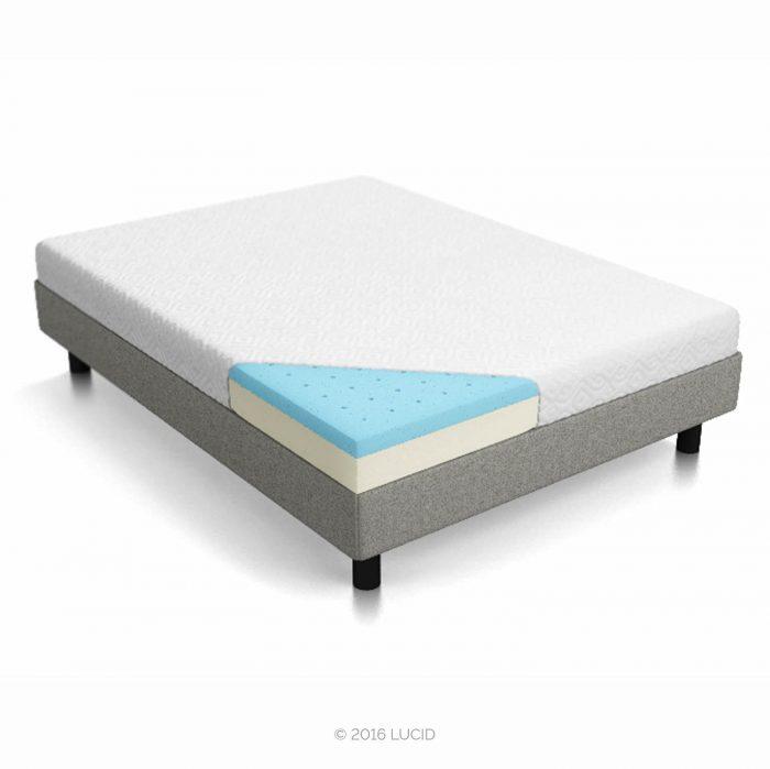 历史新低!Lucid 6英寸双层记忆海绵 Twin 中等偏硬床垫 132元,原价 294.89元,包邮