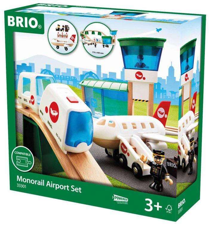 历史最低价!布里奥(Brio)最流行的玩具!Brio单轨铁路机场套装玩具 57.75元,原价 105元,包邮