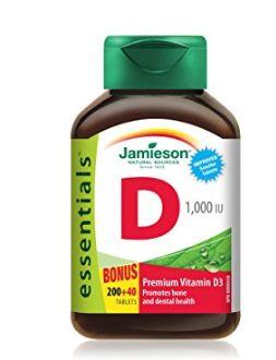 Jamieson 健美生 维生素D 1000 IU咀嚼片 6.27元(240片),原价 8.27元
