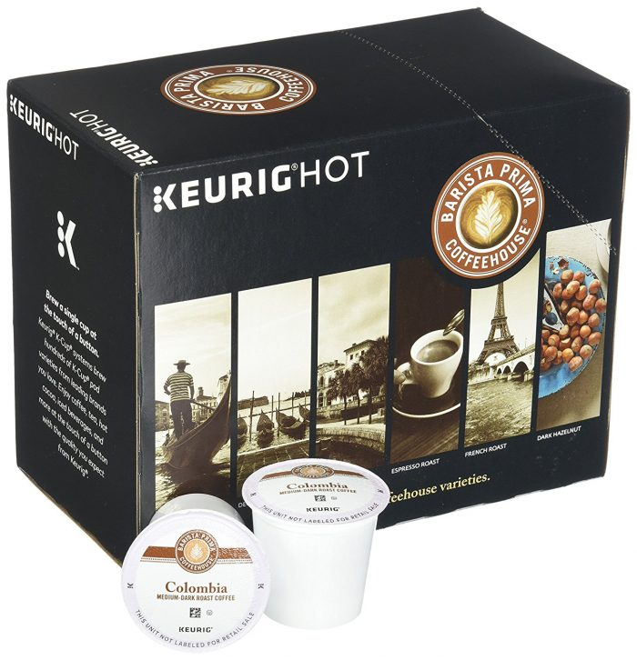 Barista Prima K-Cups for Keurig Brewers 咖啡胶囊(96个)46.91元限量特卖,原价 98.8元,包邮