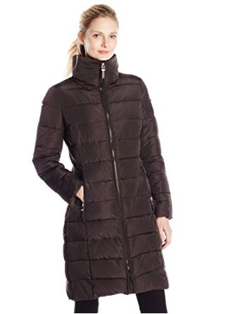 Calvin Klein女士中长款防寒服 89.45-117元特卖,原价 390元,包邮