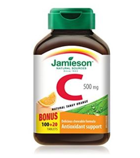 Jamieson 健美生 维生素C橘子味咀嚼片 4.87加元(多种口味可选),原价 6.27加元