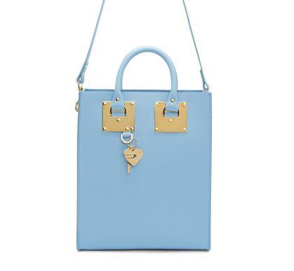 SSENSE独家销售!Sophie Hulme蓝色方形包 674元,原价 1225元,包邮