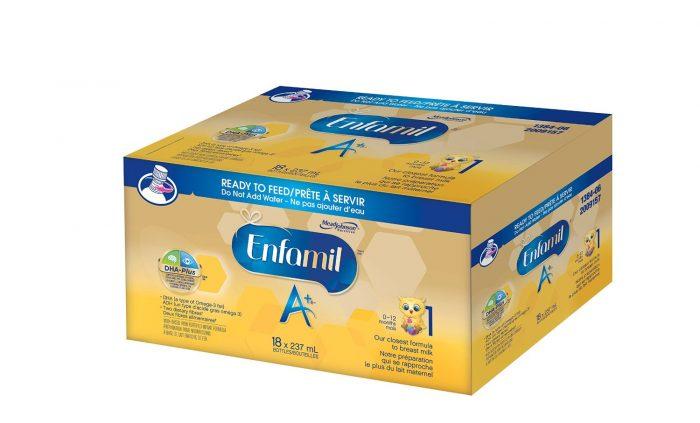 Enfamil 美贊臣 A +18瓶嬰兒配方液體奶 43.67加元,原價 52.98加元,包郵