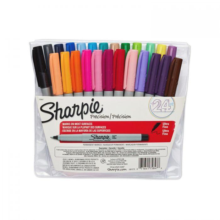 历史最低价!Sharpie 75847超细马克笔 24支装 17.99元,原价 41.99元