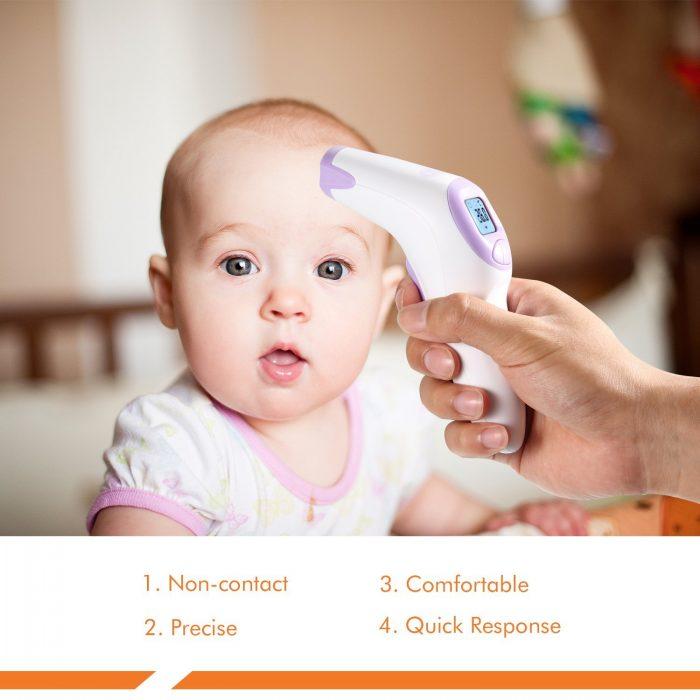 白菜价!Dr.Meter FT376 婴儿非接触式前额温度计3.2折 13.99加元清仓!