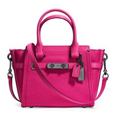 COACH Swagger 21 女式时尚真皮手提包5折 220加元包邮!