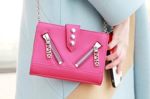 Kenzo 粉色 Kalifornia 链条美包 205元,原价 410元,包邮,内有推荐产品!