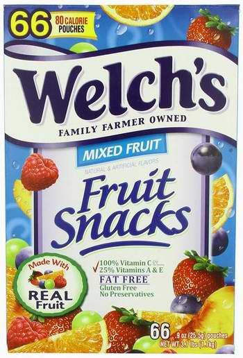 历史新低!welch's Fruit Snacks 纯果汁水果软糖(66粒,1.7公斤)4.3折 15.47元限时特卖!