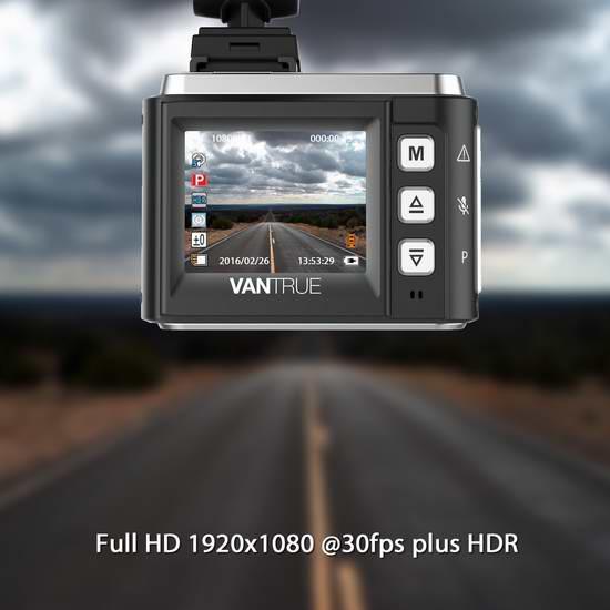 Vantrue N1 1080P 全高清超广角夜视行车记录仪5.9折 79.99加元限量特卖并包邮!