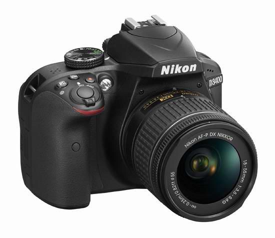 历史新低!NIKON 尼康 D3400 单反套机(AF-P DX 尼克尔 18-55mm f/3.5-5.6G VR) 498加元包邮!