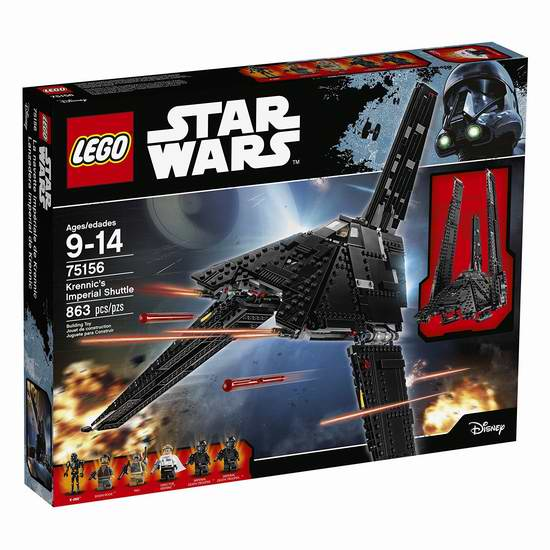 手慢无!历史新低!乐高 Lego 75156 星球大战系列 帝国穿梭机(863pcs)5.1折 59.97加元包邮!