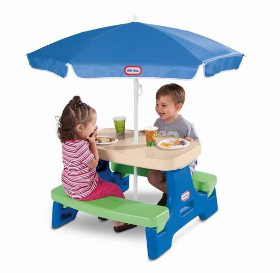 历史新低!Little Tikes 小泰克 Easy Store 折叠式幼儿餐桌/游戏桌2.5折 45.38加元包邮!