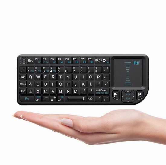 Rii 2.4GHz 带触摸板无线多媒体迷你键盘 18.69加元限量特卖!