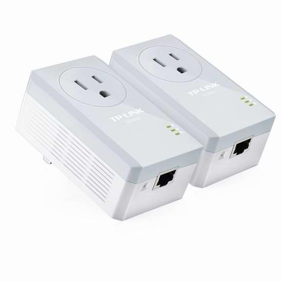 历史新低!TP-LINK TL-PA4010P AV500 500Mbps 电力线适配器/电力猫2只装4.1折 29.99加元限时特卖!
