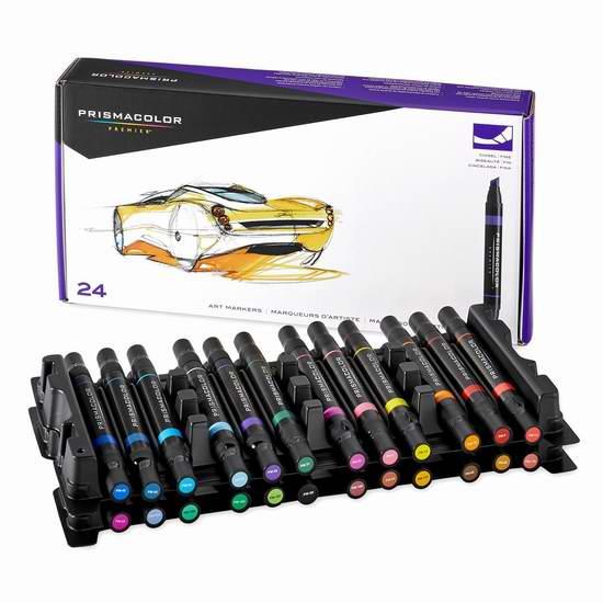 PRISMACOLOR PREMIER 3721 顶级双头艺术24色双头麦克笔3.9折 49.99加元限时特卖并包邮!