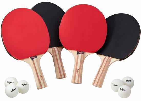 Viper 4乒乓球拍+6乒乓球套装 28.56加元,原价 46加元