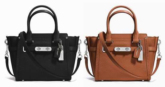 COACH Swagger 21女士手提包(两色) 190.25元,原价 410元,包邮