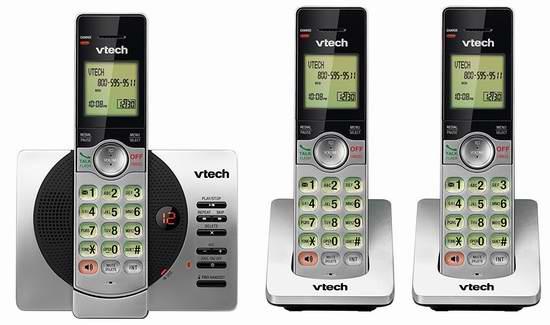 VTech 伟易达 DECT 6.0 CS6929-3 无绳电话系统 59.99加元限时特卖并包邮!