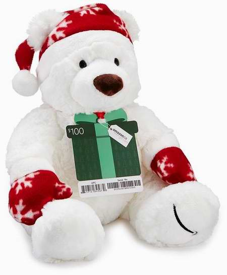 Amazon Prime会员专享:购买150元礼品卡,送价值25元新版圣诞泰迪熊玩偶!