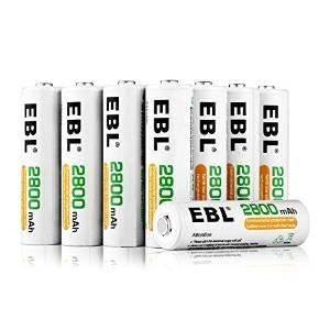 EBL 1100/2800mAh Ni-MH AA/AAA镍氢充电电池16只装 22.99-29.99元限量特卖!