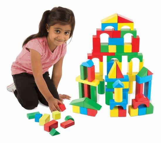 Melissa & Doug 儿童木制积木(100pcs) 14.99加元,原价 24.99加元