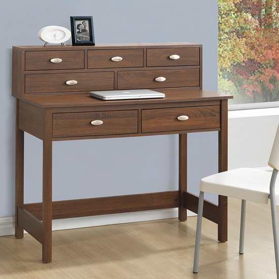 历史新低!CorLiving WFP-820-D Folio 橡木色7抽屉书桌/办公桌 173加元限时特卖并包邮!