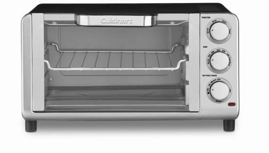历史新低!CUISINART 美膳雅 TOB-80 多功能10L不锈钢烤箱 90.09元限时特卖并包邮!
