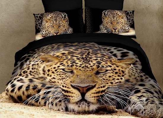 Dolce Mela DM400Q Ghepardo 豪华100%纯埃及棉 豹主题 Queen 被套6件套3.6折 85.8元限量特卖并包邮!