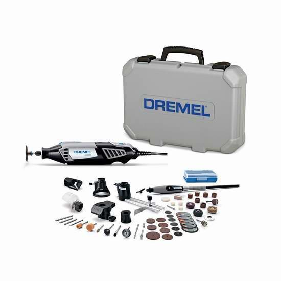 Dremel 琢美 4000-6/50 6配件+50附件 电磨机套装4.7折 115.15加元限量特卖并包邮!