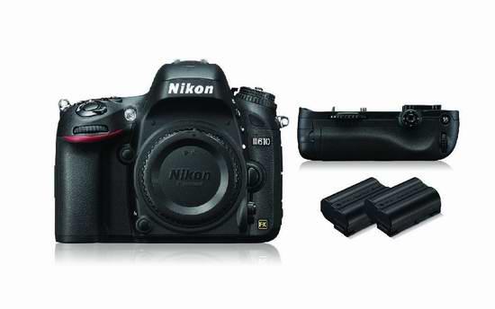 历史新低!NIKON 尼康 D610 Bundle 24MP SLR 单反相机机身+电池套装5.9折 1176.66元限量特卖并包邮!