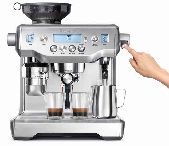 Breville 铂富 BREBES980XL Oracle 意式浓缩带磨豆功能一体式咖啡机 2099.99加元包邮!