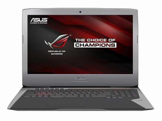 历史新低!ASUS 华硕 Republic of Gamers 玩家国度 G752VL-DH71 17.3英寸游戏笔记本电脑 1399.99元限时特卖并包邮!