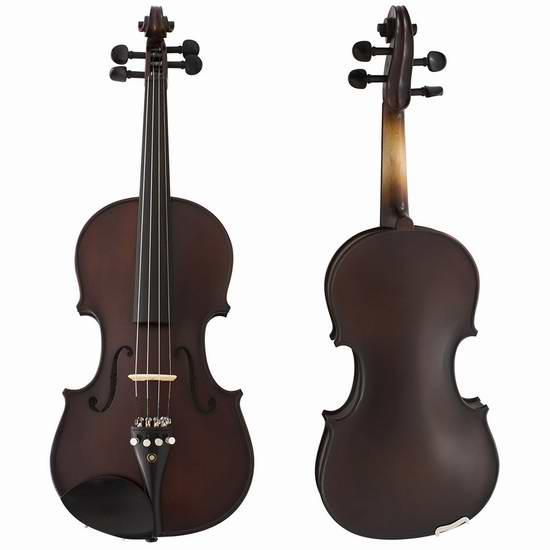 Cecilio CVN-EAS 高级黑檀木仿古小提琴(Size 3/4,配琴盒)3.4折 143.19元限量特卖并包邮!