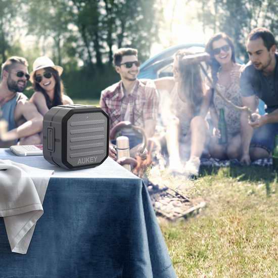 金盒头条:历史新低!Aukey 便携式无线蓝牙音箱 18.99元限时特卖!