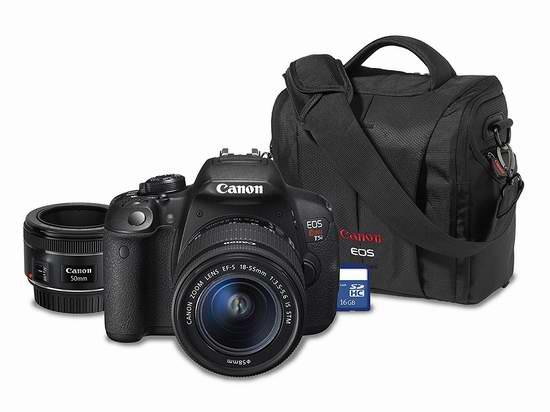 黑五专享!历史新低!Canon 佳能 Rebel T5i DSLR 单反相机(18-55mm + 50mm 双镜头)套装4折 449加元包邮!