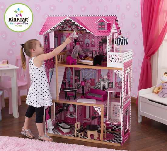 近史低价!KidKraft Amelia 梦幻童话玩具娃娃屋3.7折 129.99加元包邮!