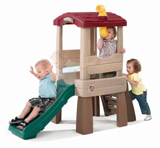 历史新低!Step2 儿童树屋滑梯6折 119.99元限时特卖并包邮!