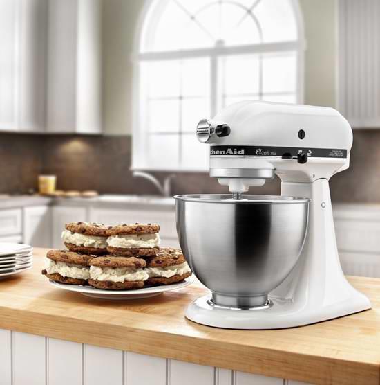 金盒头条:KitchenAid KSM75WH 4.5夸脱 经典Plus系列 立式多功能搅拌厨师机5.5折 249.99加元包邮!