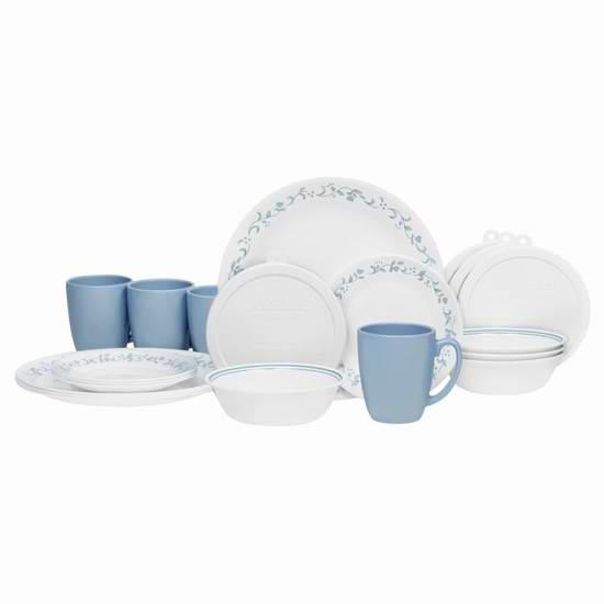 历史新低!Corelle 康宁 Country Cottage Livingware 餐具20件套 47.35元限时特卖并包邮!