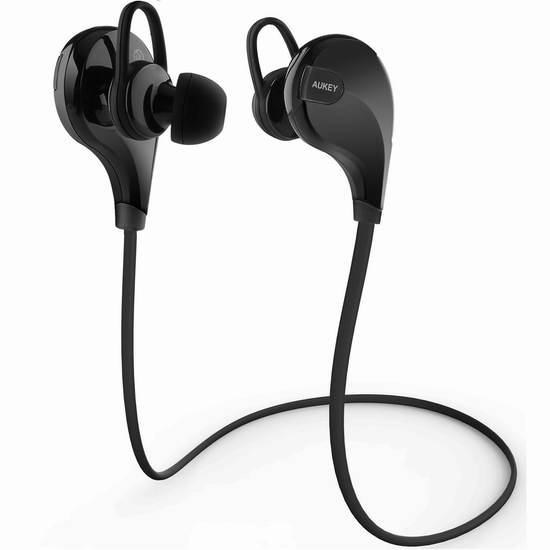 Aukey EP-B13 蓝牙4.1无线立体声运动耳机 21.99元限时特卖!
